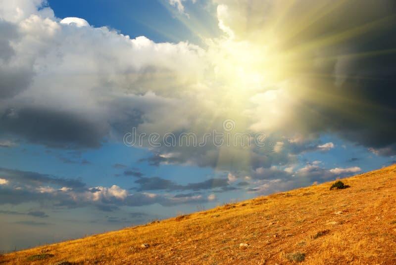 ηλιοφάνεια λόφων στοκ εικόνα με δικαίωμα ελεύθερης χρήσης