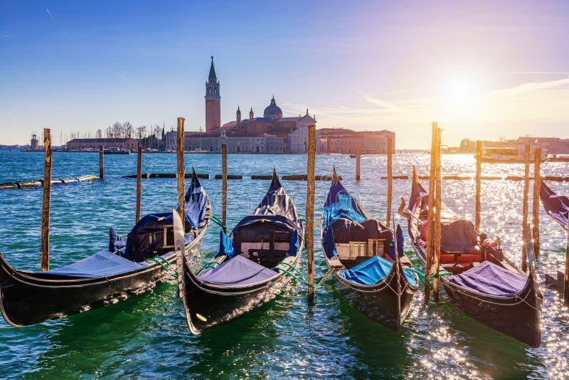 Ηλιόλουστη ημέρα στο τετράγωνο SAN Marco, Βενετία, Ιταλία κανάλι μεγάλη Βενετία στοκ εικόνες