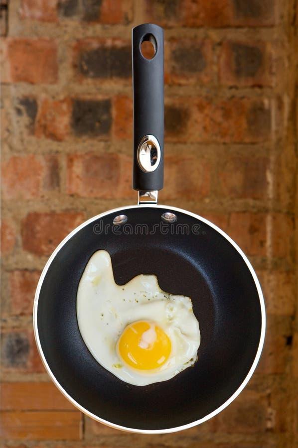 Ηλιόλουστη πλευρά αυγών επάνω στοκ εικόνα
