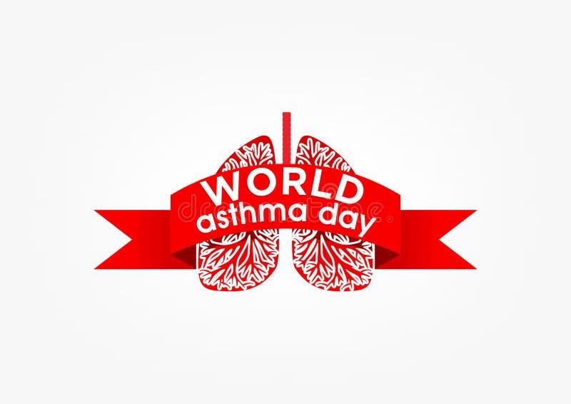 Ημέρα άσθματος ελεύθερη απεικόνιση δικαιώματος