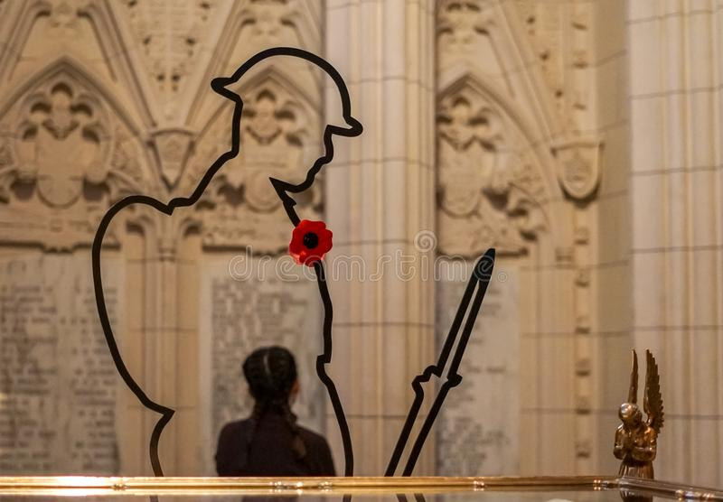 Ημέρα ανακωχής στο Κοινοβούλιο της Οττάβας στοκ εικόνες