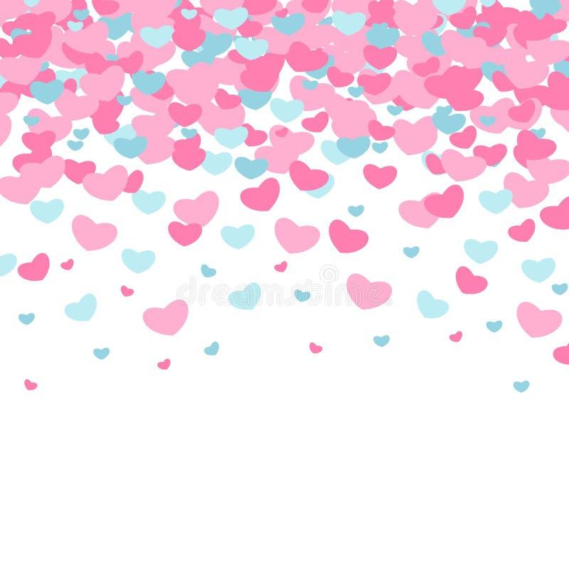 Ημέρα βαλεντίνων ` s προτύπων Ατελείωτα ρόδινα υπόβαθρα με τις καρδιές ελεύθερη απεικόνιση δικαιώματος