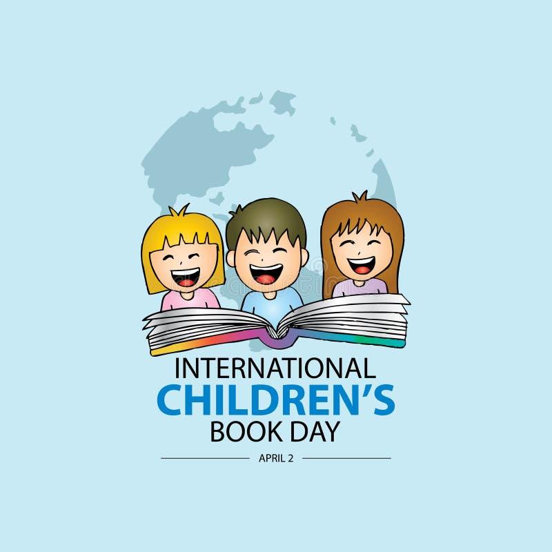 Ημέρα βιβλίων των διεθνών παιδιών διανυσματική απεικόνιση