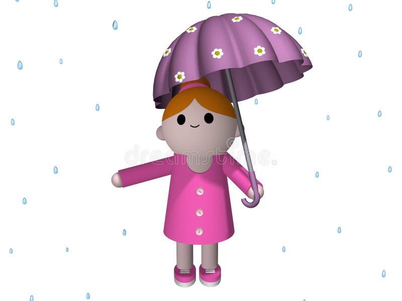ημέρα βροχερή διανυσματική απεικόνιση