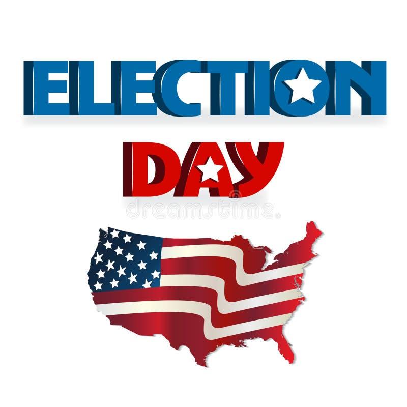 Ημέρα εκλογής των Ηνωμένων Πολιτειών της Αμερικής διανυσματική απεικόνιση