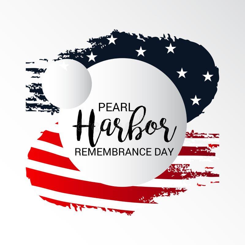Ημέρα ενθύμησης Pearl Harbor διανυσματική απεικόνιση