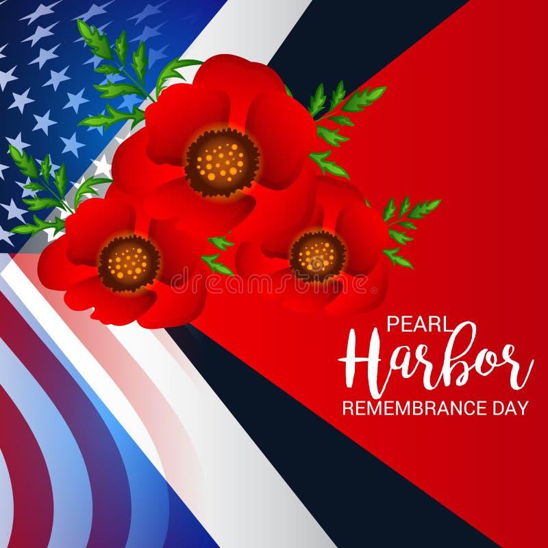 Ημέρα ενθύμησης Pearl Harbor απεικόνιση αποθεμάτων