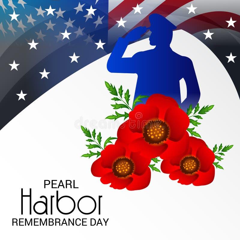 Ημέρα ενθύμησης Pearl Harbor ελεύθερη απεικόνιση δικαιώματος