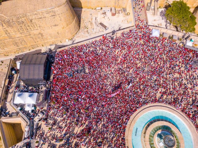 Ημέρα εργασίας εορτασμού σε Valletta, Μάλτα στοκ εικόνες με δικαίωμα ελεύθερης χρήσης