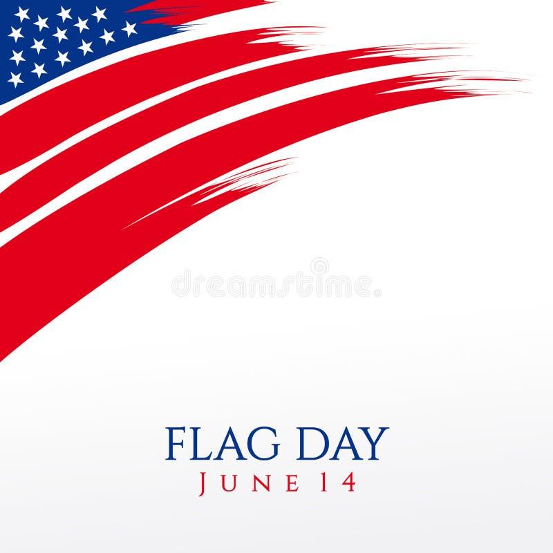 Ημέρα Ηνωμένων σημαιών απεικόνιση αποθεμάτων