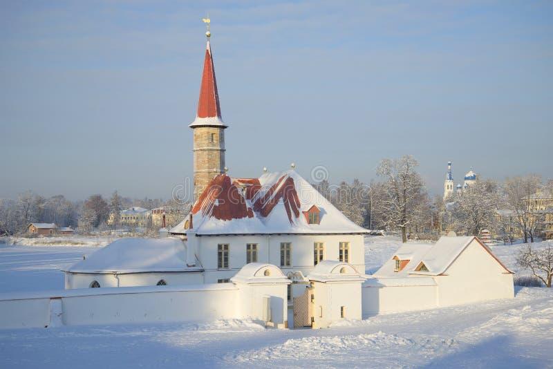 Ημέρα Ιανουαρίου παλατιών κοινοβίων Γκάτσινα στοκ εικόνες με δικαίωμα ελεύθερης χρήσης