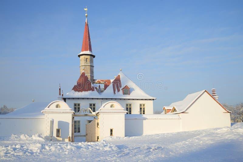 Ημέρα Ιανουαρίου παλατιών κοινοβίων gatchina Ρωσία στοκ εικόνα με δικαίωμα ελεύθερης χρήσης