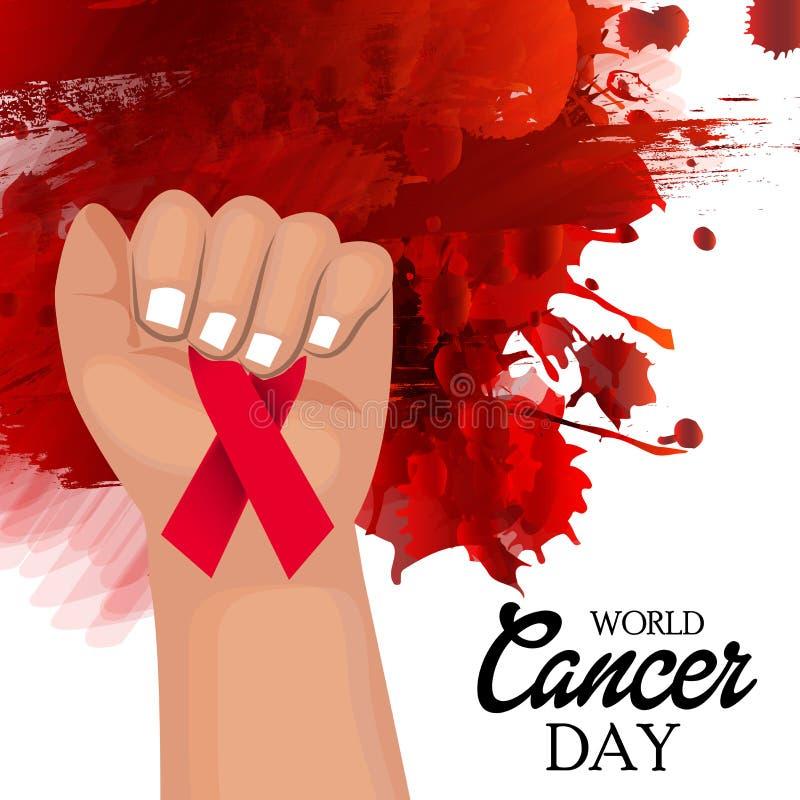 Ημέρα καρκίνου ελεύθερη απεικόνιση δικαιώματος