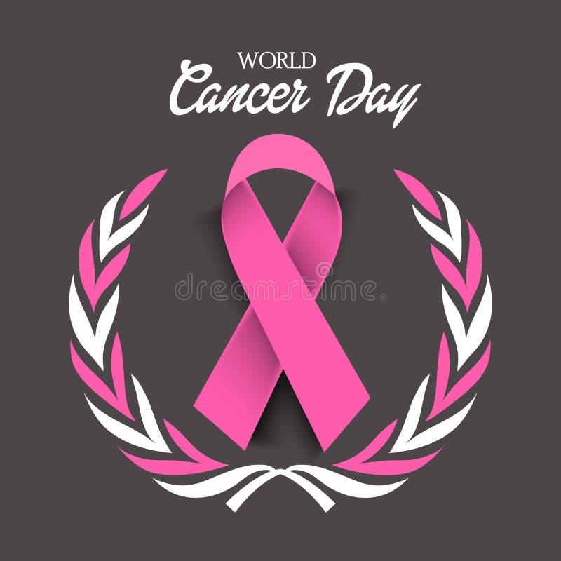 Ημέρα καρκίνου διανυσματική απεικόνιση