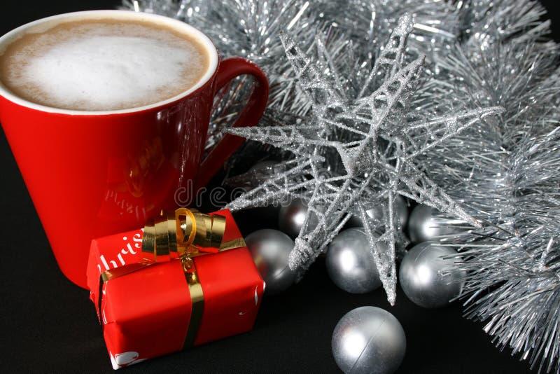 ημέρα καφέ Χριστουγέννων στοκ εικόνα
