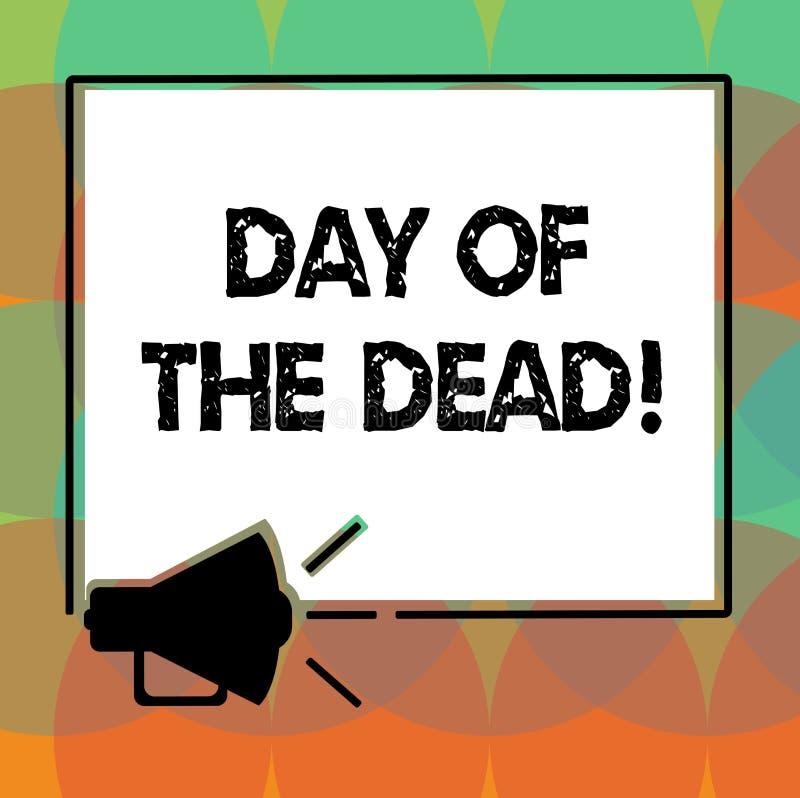 Ημέρα κειμένων γραψίματος λέξης των νεκρών Επιχειρησιακή έννοια για το μεξικάνικο εορτασμό που τιμά να δείξει που έχει περάσει μα απεικόνιση αποθεμάτων