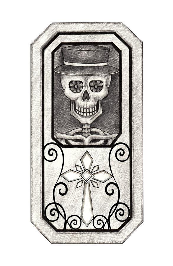 Ημέρα κρανίων τέχνης των νεκρών στοκ φωτογραφία με δικαίωμα ελεύθερης χρήσης