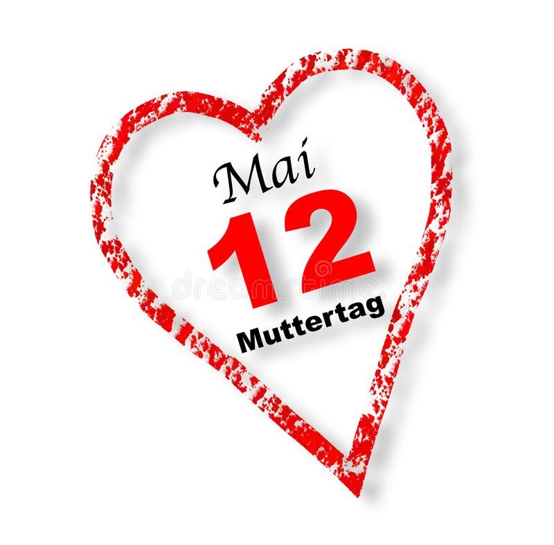 Ημέρα μητέρας, στις 12 Μαΐου, καρδιά στοκ φωτογραφίες με δικαίωμα ελεύθερης χρήσης