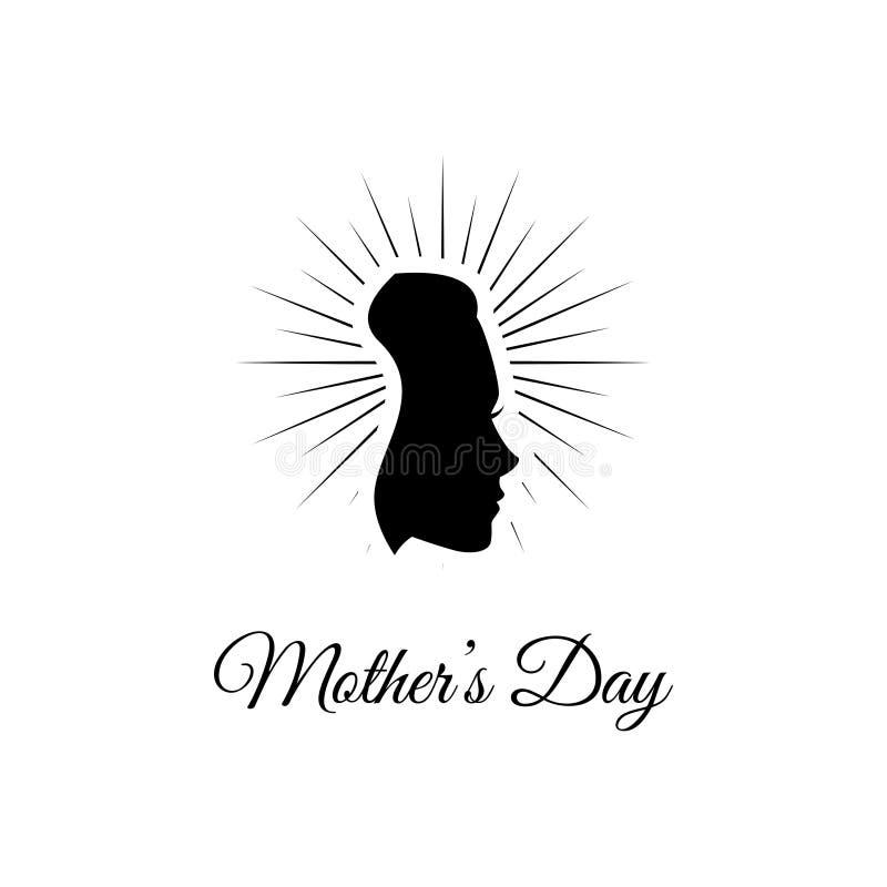 Ημέρα μητέρων s Σκιαγραφία γυναικών s στις ακτίνες επίσης corel σύρετε το διάνυσμα απεικόνισης Σχέδιο ευχετήριων καρτών διανυσματική απεικόνιση