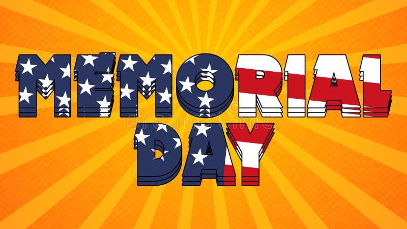 Ημέρα μνήμης γραφικά 002 - σημαία υψηλής ανάλυσης ΗΠΑ ελεύθερη απεικόνιση δικαιώματος
