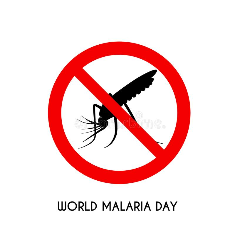 Ημέρα παγκόσμιας ελονοσίας, διανυσματική απεικόνιση, επίπεδο σχέδιο απεικόνιση αποθεμάτων