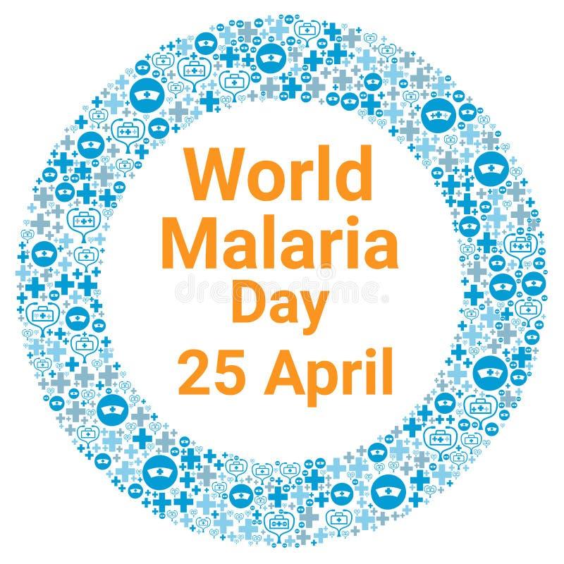 Ημέρα παγκόσμιας ελονοσίας ελεύθερη απεικόνιση δικαιώματος