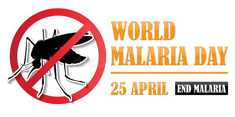 Ημέρα παγκόσμιας ελονοσίας διανυσματική απεικόνιση