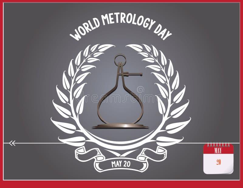 Ημέρα παγκόσμιας μετρολογίας καρτών διανυσματική απεικόνιση