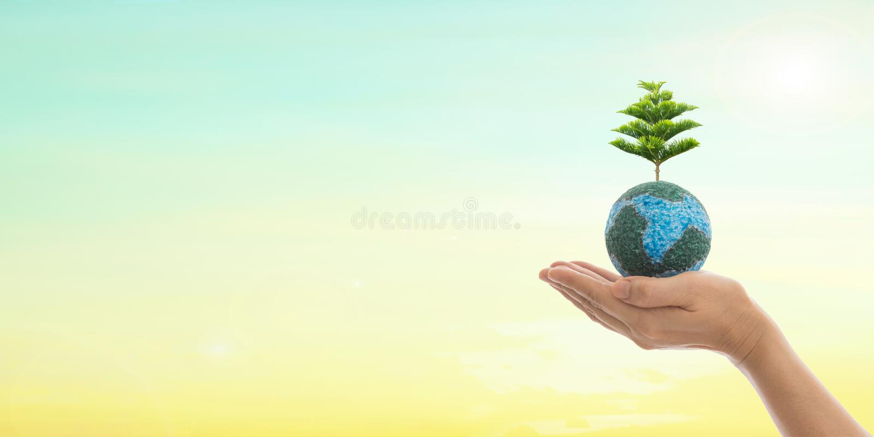 Ημέρα παγκόσμιου περιβάλλοντος και πράσινη έννοια στοκ εικόνα με δικαίωμα ελεύθερης χρήσης