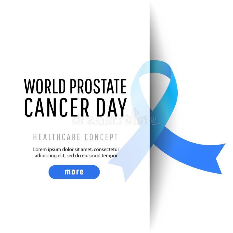 Ημέρα παγκόσμιου προστατική καρκίνου διανυσματική απεικόνιση
