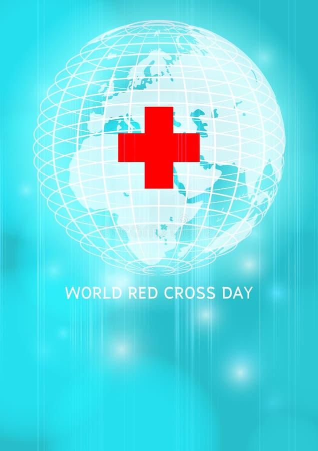 Ημέρα παγκόσμιων Ερυθρών Σταυρών διανυσματική απεικόνιση