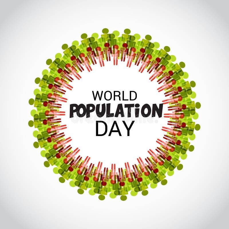Ημέρα παγκόσμιων πληθυσμών ελεύθερη απεικόνιση δικαιώματος