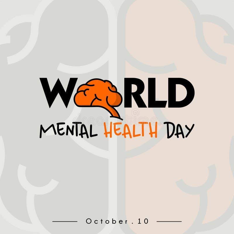 Ημέρα παγκόσμιων πνευματικών υγειών στοκ εικόνες