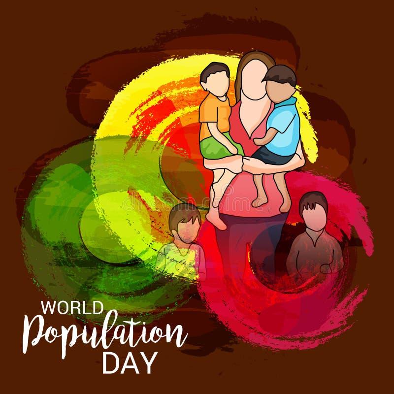 Ημέρα παγκόσμιων πληθυσμών απεικόνιση αποθεμάτων