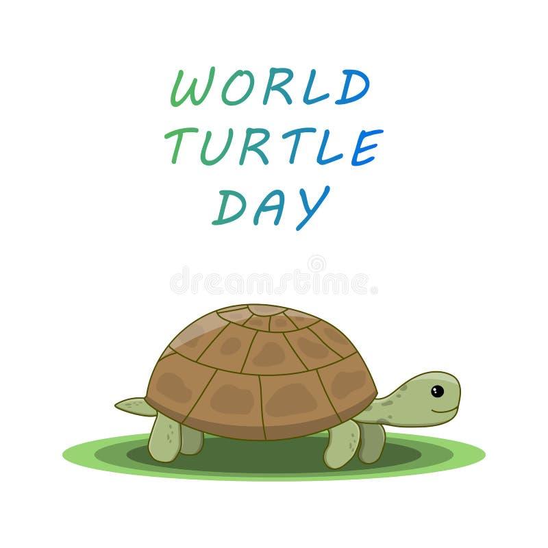 Ημέρα παγκόσμιων χελωνών απεικόνιση αποθεμάτων