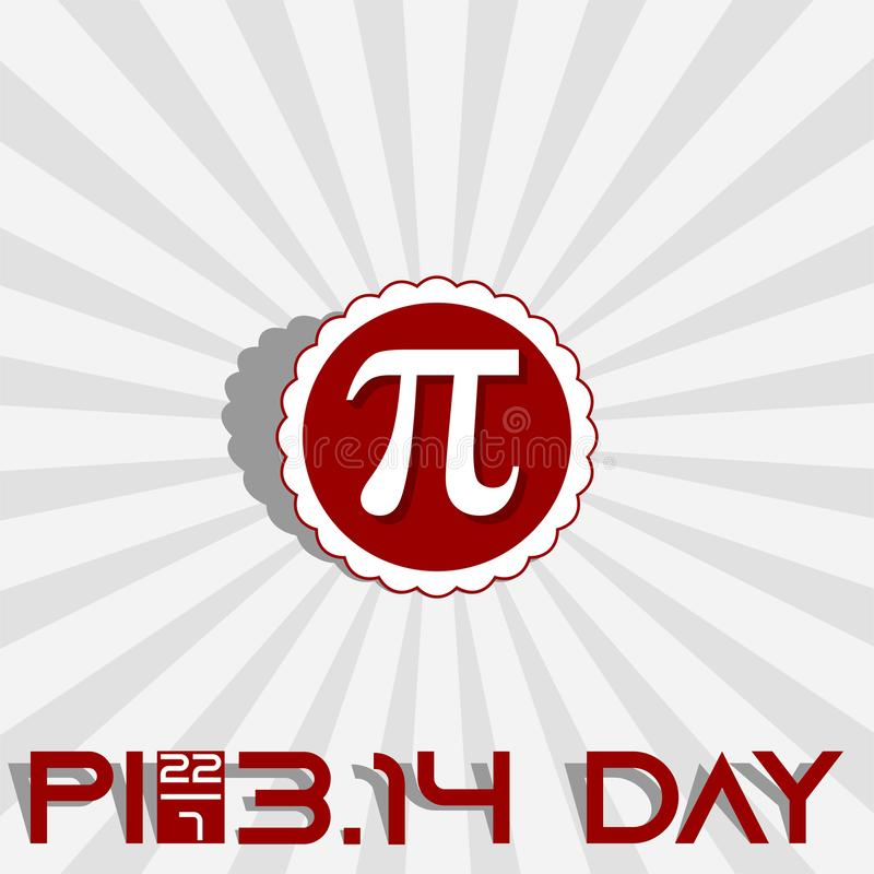 Ημέρα προσέγγισης pi διανυσματική απεικόνιση