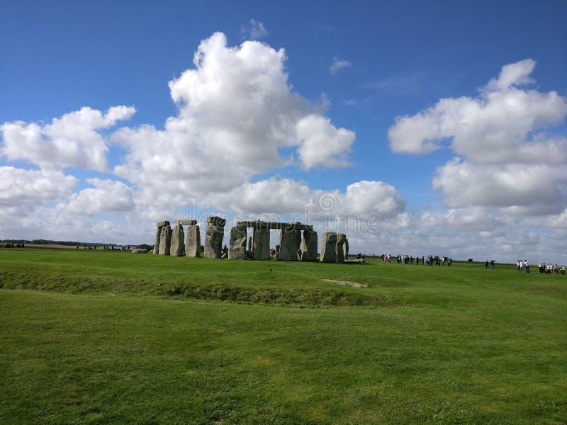 Ημέρα σύννεφων Stonehenge στοκ εικόνα με δικαίωμα ελεύθερης χρήσης