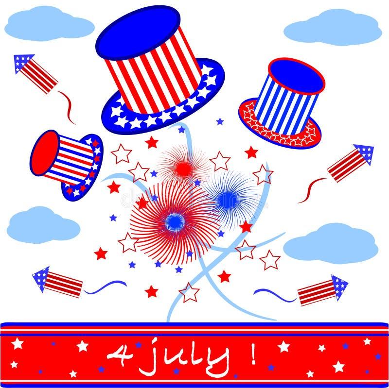 Ημέρα της ανεξαρτησίας, έμβλημα διανυσματική απεικόνιση