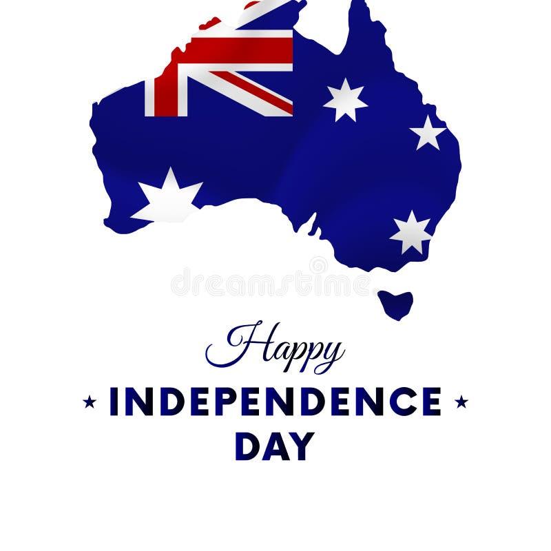 Ημέρα της ανεξαρτησίας της Αυστραλίας ηπειρωτικός χάρτης της Αυστραλίας πολιτικός επίσης corel σύρετε το διάνυσμα απεικόνισης ελεύθερη απεικόνιση δικαιώματος