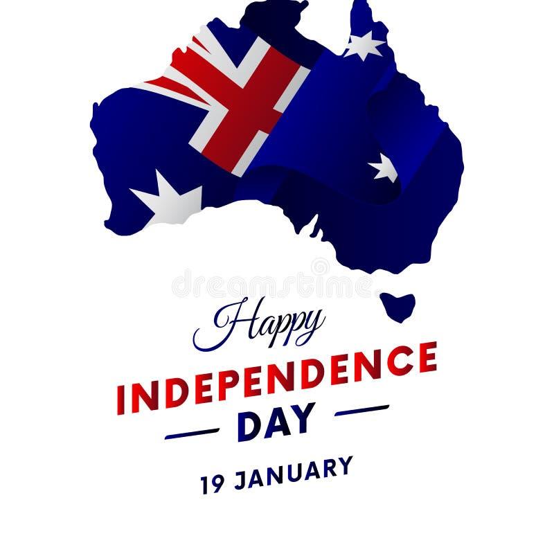 Ημέρα της ανεξαρτησίας της Αυστραλίας ηπειρωτικός χάρτης της Αυστραλίας πολιτικός επίσης corel σύρετε το διάνυσμα απεικόνισης διανυσματική απεικόνιση