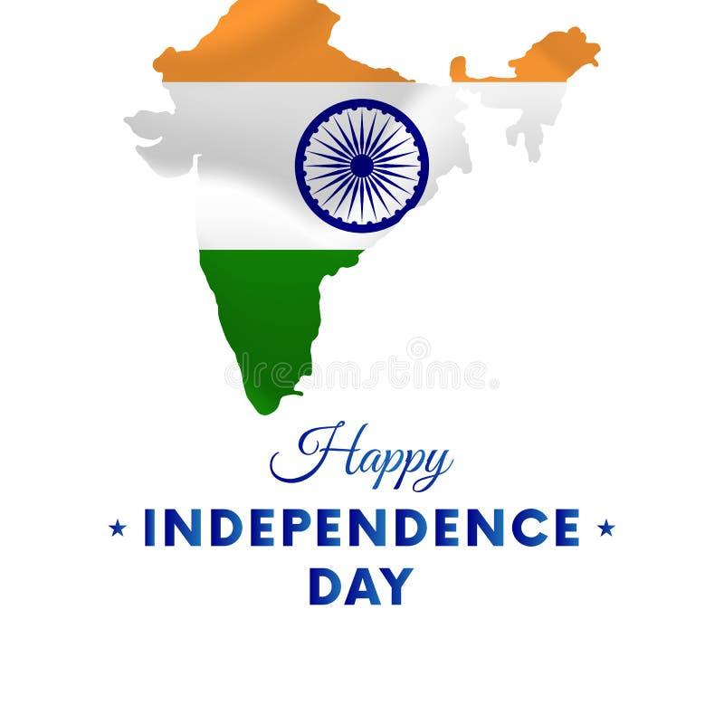Ημέρα της ανεξαρτησίας της Ινδίας ηπειρωτικός χάρτης της Ινδίας πολιτικός επίσης corel σύρετε το διάνυσμα απεικόνισης ελεύθερη απεικόνιση δικαιώματος