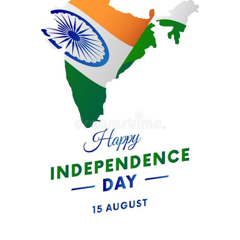 Ημέρα της ανεξαρτησίας της Ινδίας ηπειρωτικός χάρτης της Ινδίας πολιτικός επίσης corel σύρετε το διάνυσμα απεικόνισης απεικόνιση αποθεμάτων