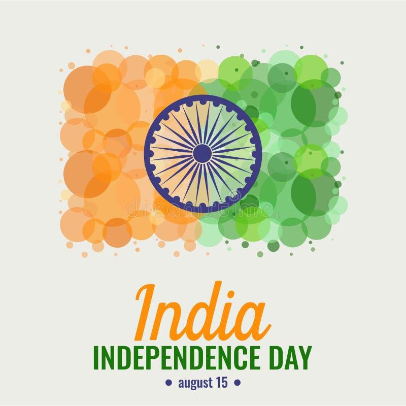 Ημέρα της ανεξαρτησίας της Ινδίας απεικόνιση αποθεμάτων