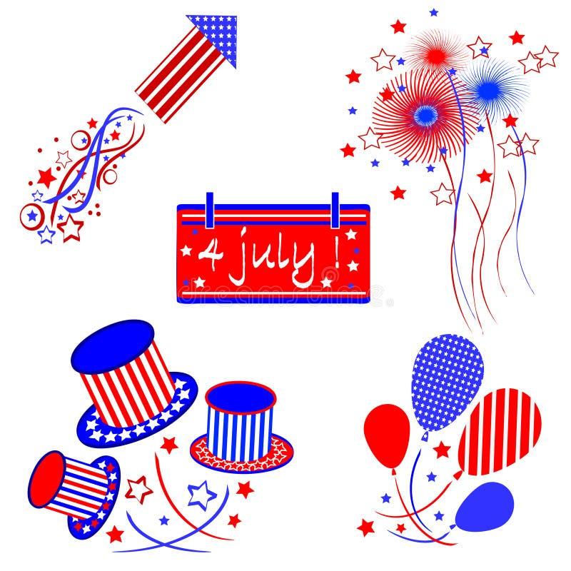Ημέρα της ανεξαρτησίας, σύνολο διανυσματική απεικόνιση