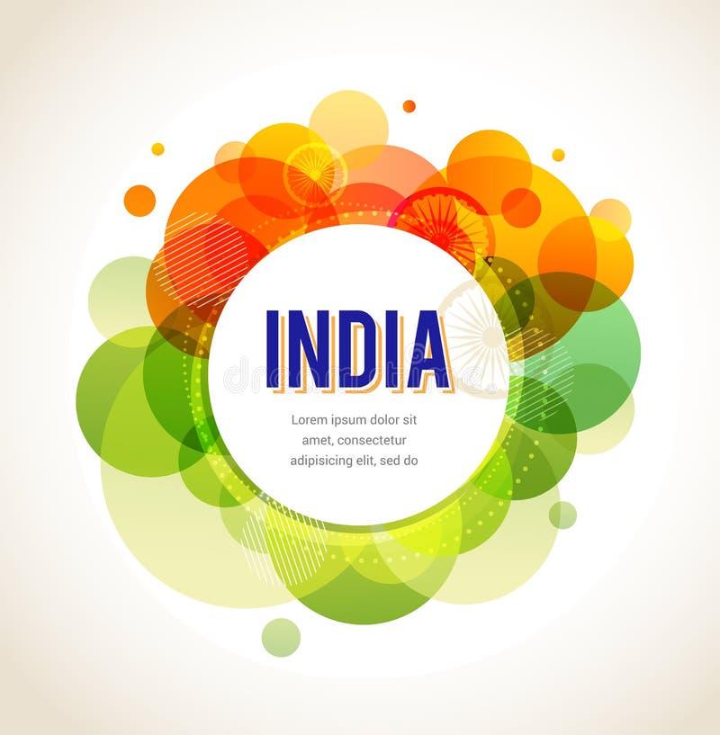 Ημέρα της ανεξαρτησίας της Ινδίας διανυσματική απεικόνιση