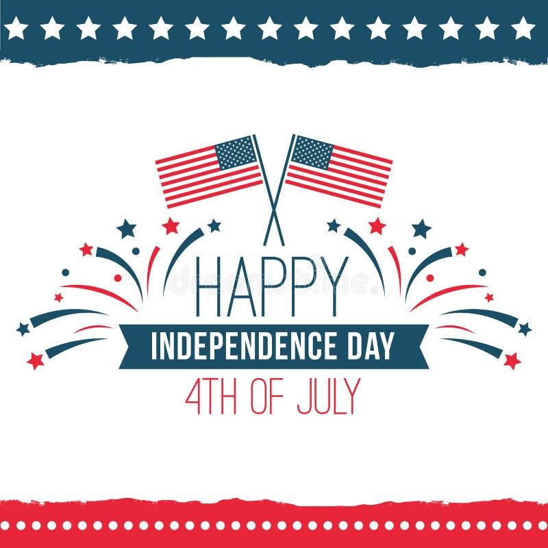 Ημέρα της ανεξαρτησίας του συνόλου Ηνωμένων αφισών απεικόνιση αποθεμάτων