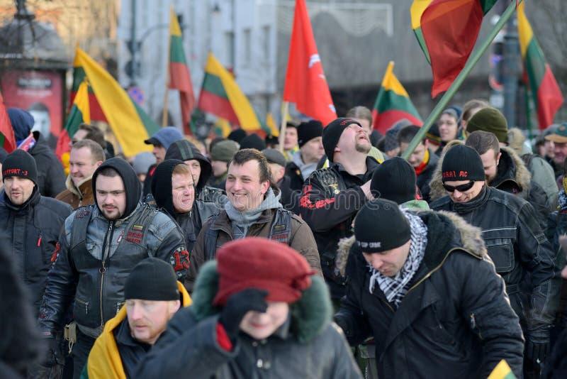 Ημέρα της ανεξαρτησίας, Vilnius, Λιθουανία στοκ εικόνες