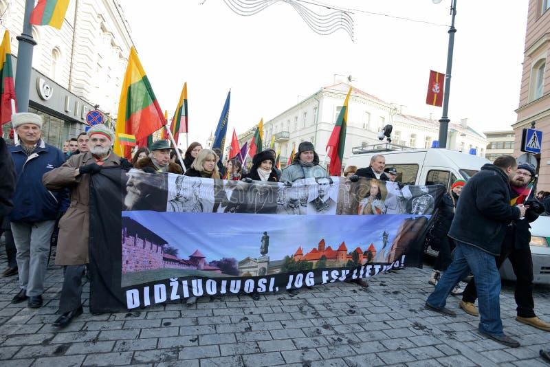 Ημέρα της ανεξαρτησίας, Vilnius, Λιθουανία στοκ φωτογραφία με δικαίωμα ελεύθερης χρήσης