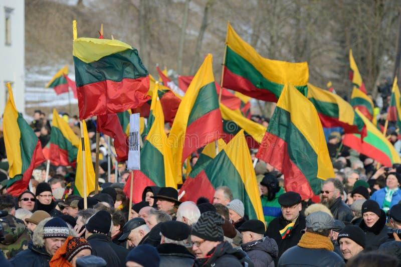 Ημέρα της ανεξαρτησίας, Vilnius, Λιθουανία στοκ εικόνες με δικαίωμα ελεύθερης χρήσης