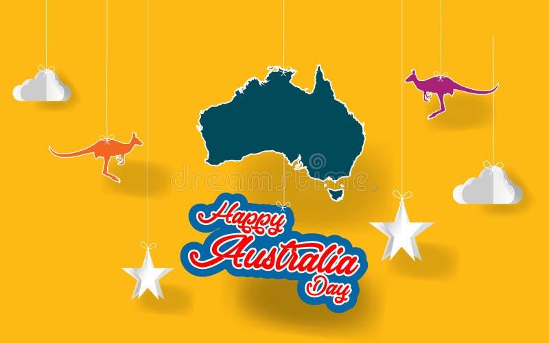 Ημέρα της Αυστραλίας τέχνης εγγράφου Εγγράφου το ευτυχές της Αυστραλίας ημέρας έγγραφο origami wiith σύστασης αφηρημένο καλύπτει, ελεύθερη απεικόνιση δικαιώματος